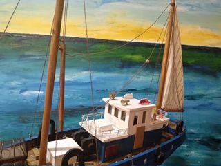 Barco pesquero, maqueta