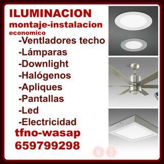 MONTAJE LAMPARAS Y HALOGENOS Y APLIQUES