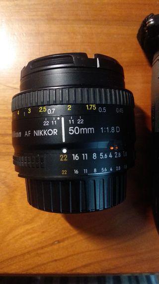 Nikon D7100 Objetivo 50mm 1.8