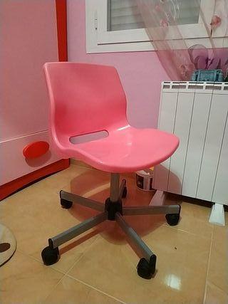 silla despacho rosa