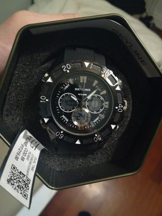 Reloj Skyline USA Dual negro