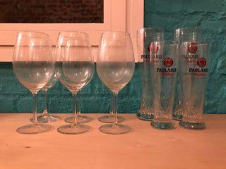 Vasos y copas de cristal