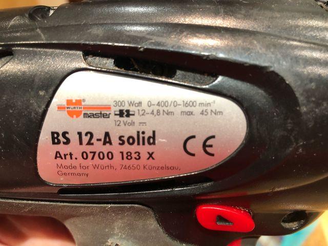 Taladro/Atornillador WÜRTH 300W batería
