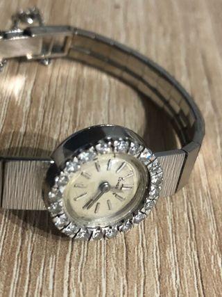 Reloj longines oro blanco y diamantes