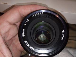 50mm f/1.8 Nikkor - Objetivo AI - Estado PERFECTO