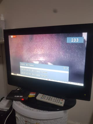 tv television with built-in DVD player