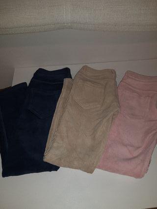 3 Pantalones Benetton de Niña