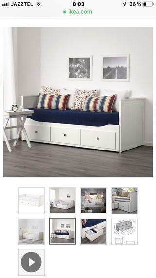 Cama de Ikea Hemnes + 2 colchones