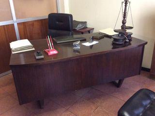 VENDIDA! Mesa de despacho antigua madera noble