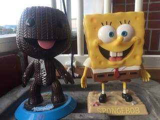 Figuras boj esponja y little big planet
