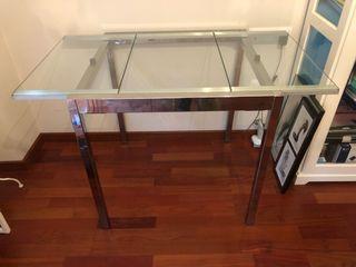 Mesa plegable cristal