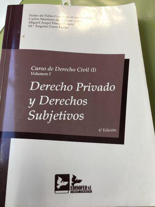 Libro Derecho Civil I Edisofer