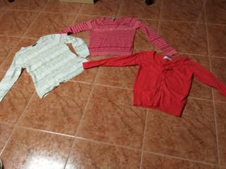 Tres jerséis chica talla M/L