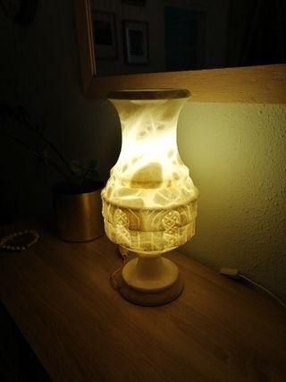 Lámpara de alabastro años 70