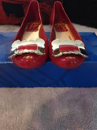 Vivienne Westwood peep toe flats. Size 5.
