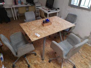 4 sillas de oficina
