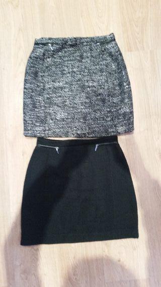 2 faldas talla 38 de HyM