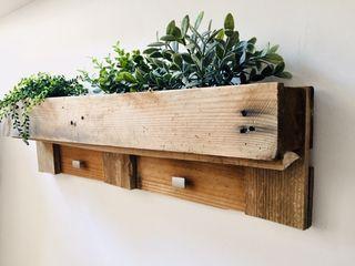 colgador perchero madera palet industrial nordico