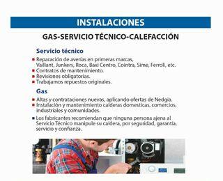 INSTALACIONES, GAS- SERVICIO TÉCNICO- CALEFACCIÓN