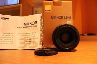 Objetivo Nikkor 35mm F 1.8 Dx