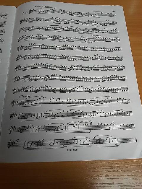 Estudio para oboe. Salviani