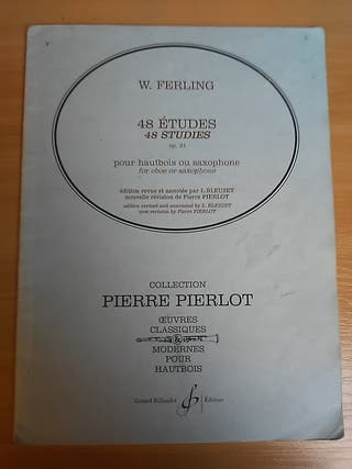 W. Ferling. 48 Studies for oboe or saxophone.
