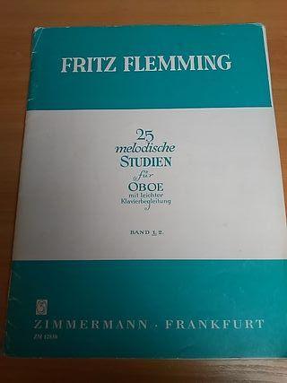 Libro Estudios para oboe. Fritz Flemming