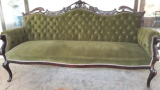 SOFA ANTIGUO ISABELINO