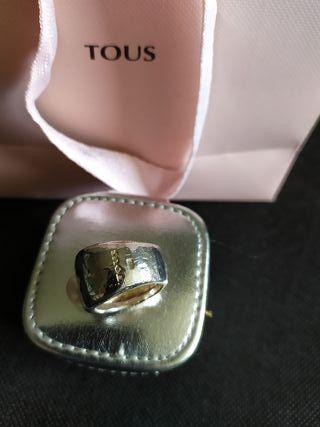 Anillo TOUS Duna en plata y perla Cultivada 1cm