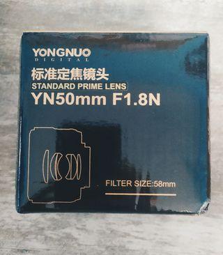 Objetivo yongnuo 50mm para Nikon + filtros