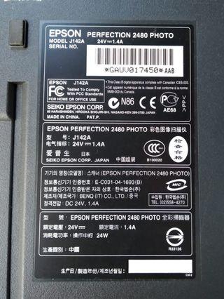 Escaner Epson Perfection 2480