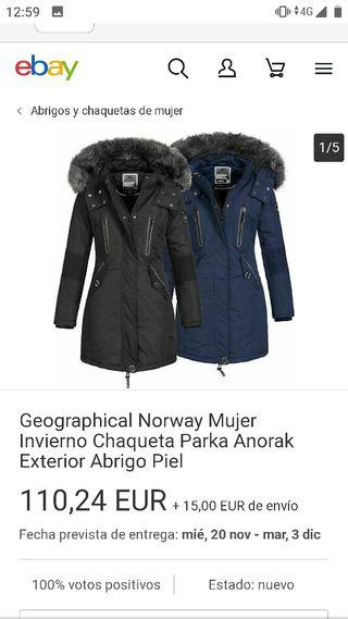 abrigo Norway mujer