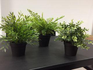 Plantas artificiales x3