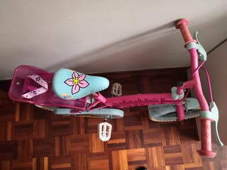 """Bicicleta de 14"""" c/ruedines"""