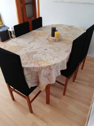 Mesa Comedor extensible + 5 sillas