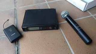 Micrófono multifreqüencia Shure SLX4 + SLX2