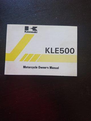 MANUAL USUARIO ORIGINAL MOTO KAWASAKI KLE 500 1991