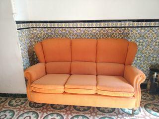 Conjunto sofá 3 plazas y dos sillones