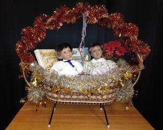 Cesta Navidad - Vintage