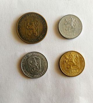 monedas antiguas Checoslovaquia