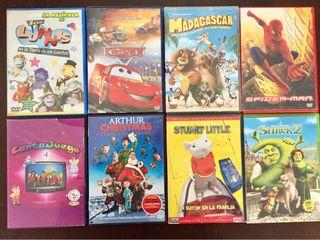 Películas DVD's Cars, Madagascar, Spider-Man