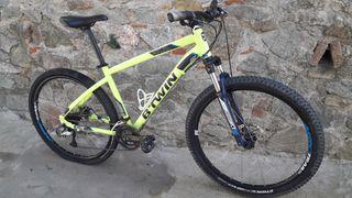 bicicleta Btwin 27.5 freno disco