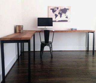 Mesa escritorio despacho industrial madera acero