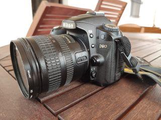Cámara Nikon D90 12.3MP + Objetivo Nikkor 18-70 3.