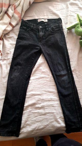 vaquero negro levi's skinny talla 10