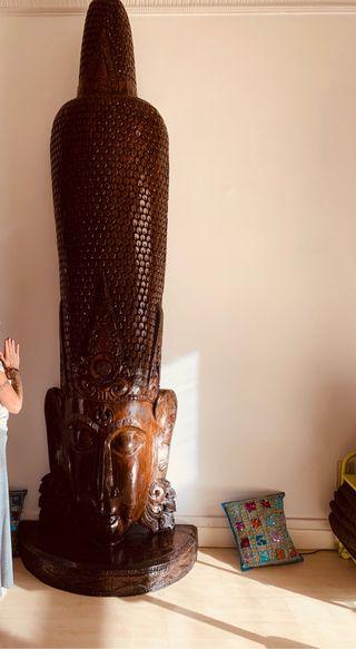 Buda escultura en madera