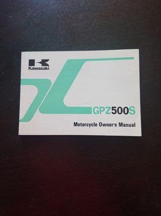 MANUAL USUARIO ORIGINAL MOTO KAWASAKI GPZ 500 S