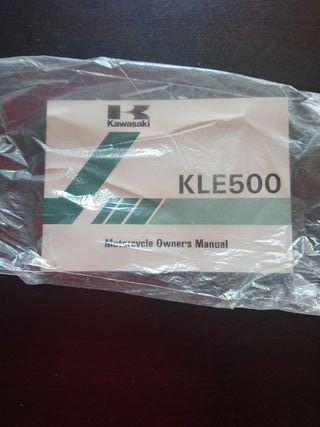 MANUAL USUARIO ORIGINAL MOTO KAWASAKI KLE 500