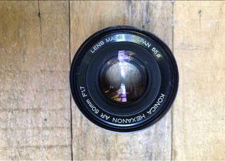 Objetivo konica 50mm f/1.7