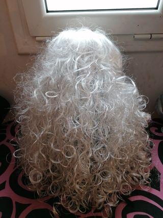 peluca diadeña blanca